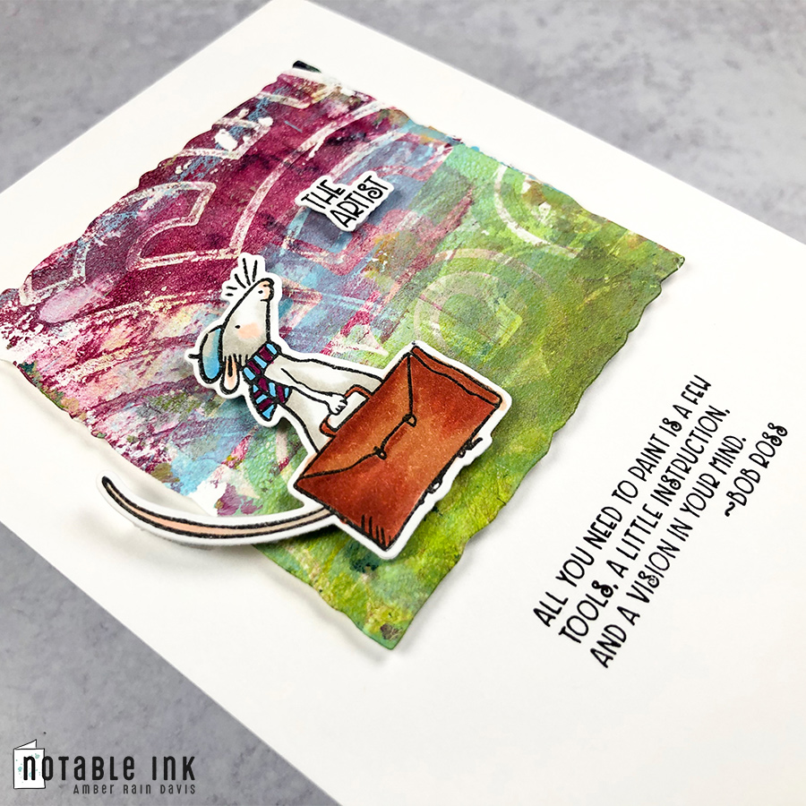 How to make a gel press print for an artsy scene card