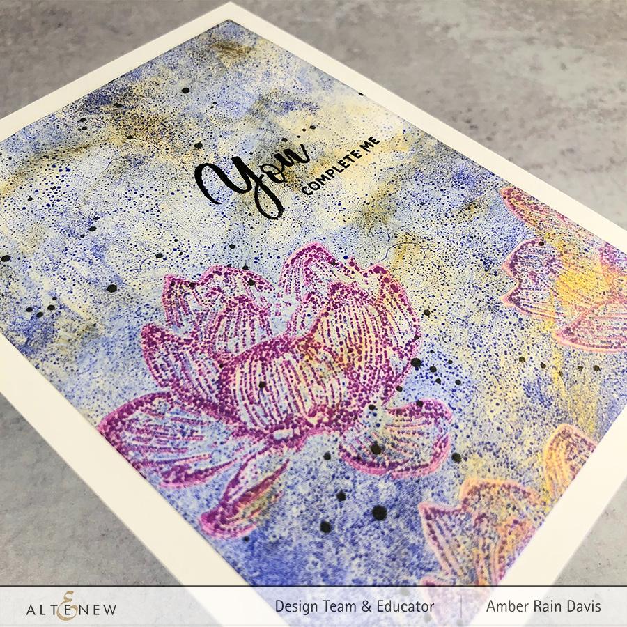 Indian Lotus with Gel Press & Dye Ink