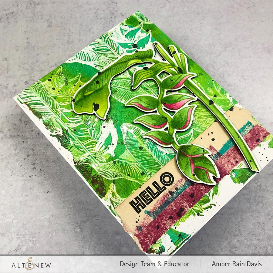 Altenew Tropical Jungle | Mixed Media Card