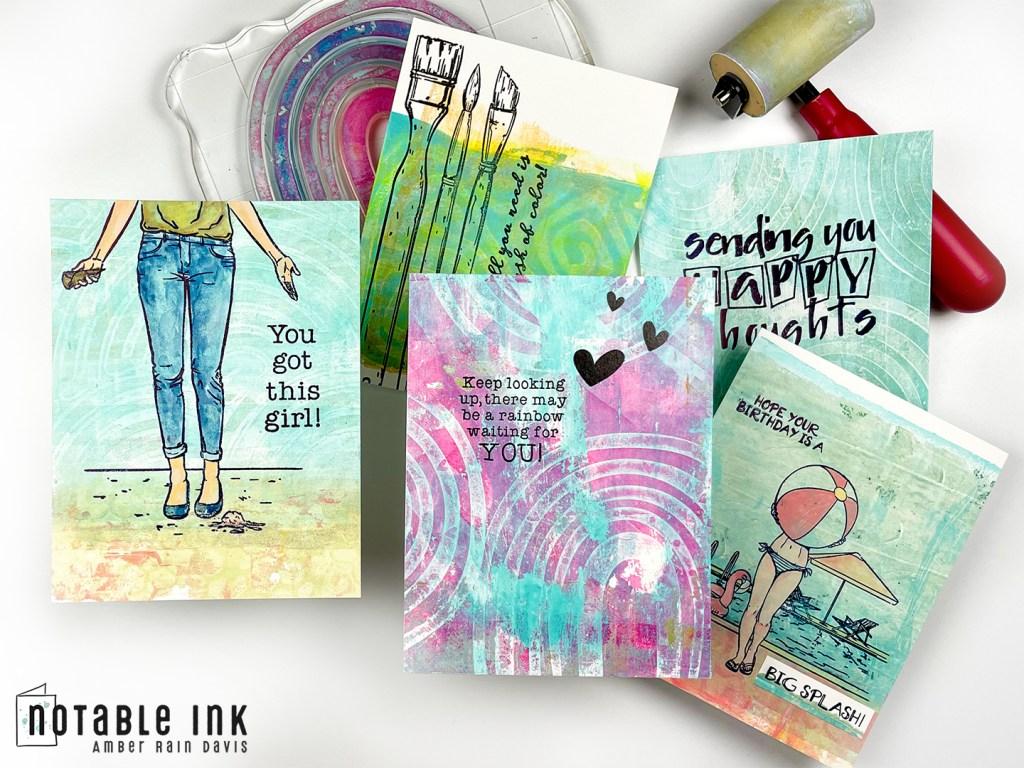 How To Make Creative Gel Print Scene Cards