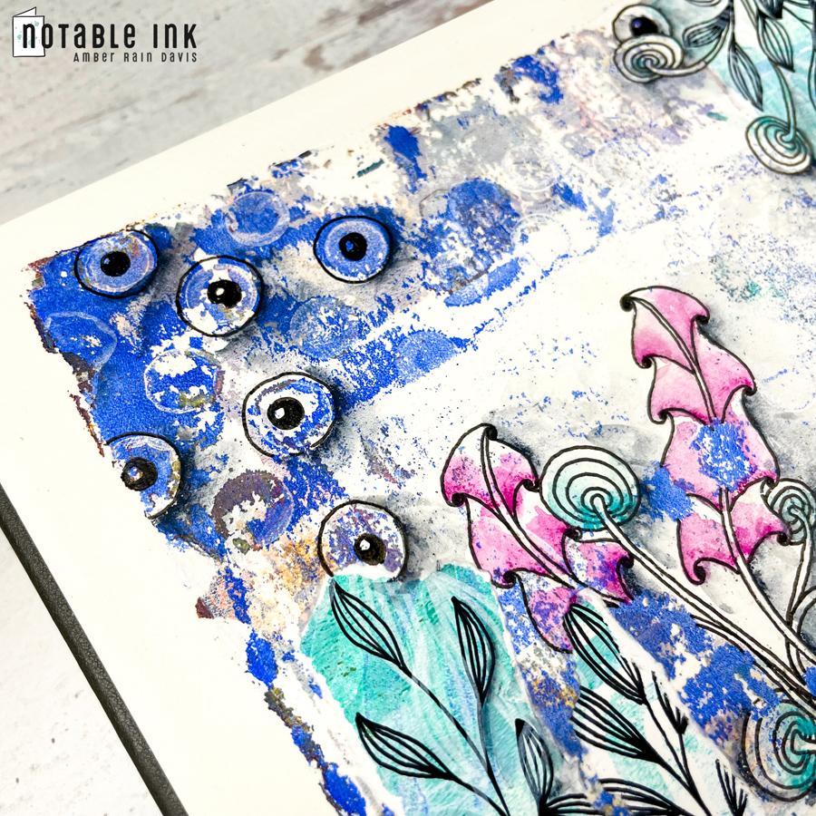 Mixed Media Art Journal Process | 001