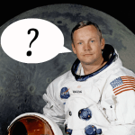 Neil Armstrong in his spacesuit