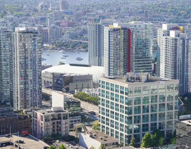 View of Vancouver Skyscrapers from the Vancouver Lookout