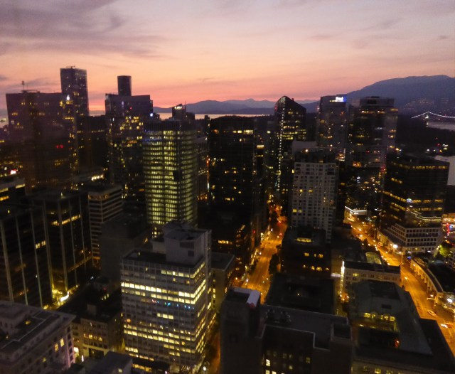 Lights of Vancouver -- From the Vancouver Lookout