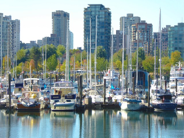 Boats and Buildings -- View from Vancouver Seawall