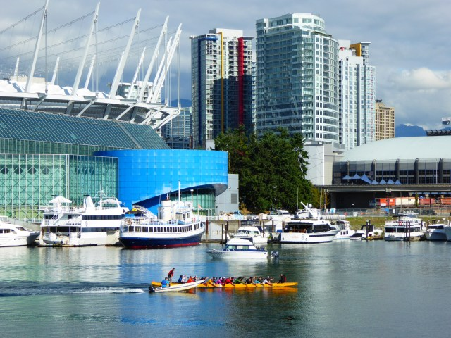 View of BC Stadium from AquaBus on False Creek Vancouver