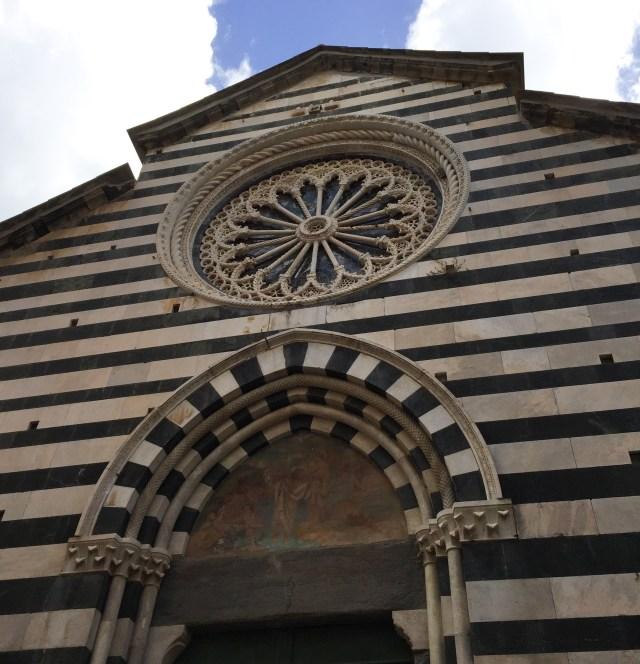 The Church of San Giovanni Battista in Monterosso al Mare Cinque Terre Italy