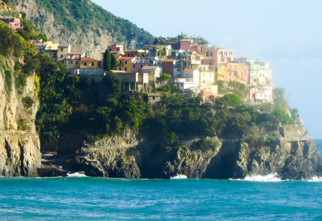 A view of Manarola from Corniglia