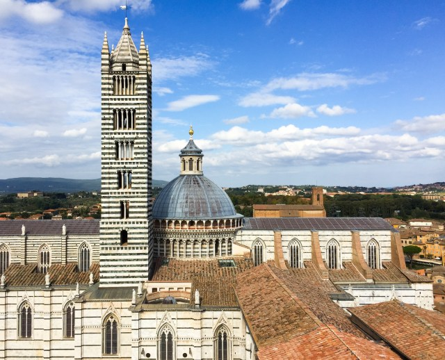 The dome and bell tower of the Duomo di Siena