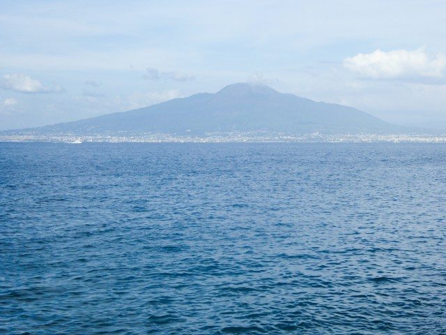 Mount Vesuvius in the Bay of Naples, Italy
