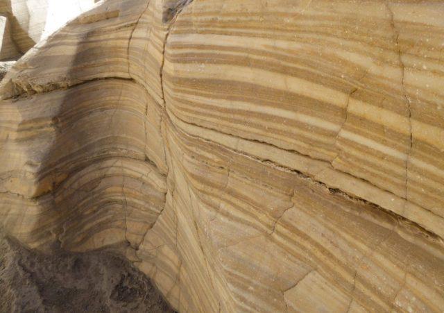 Marble walls at Mosaic Canyon in Death Valley National Park Caifornia