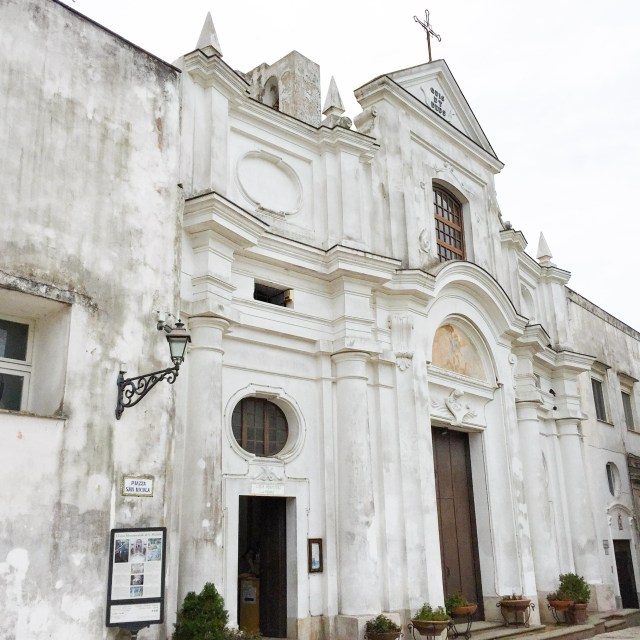 The Church of San Michele is one of the beautiful buildings to admire in the historic center of Anacapri.