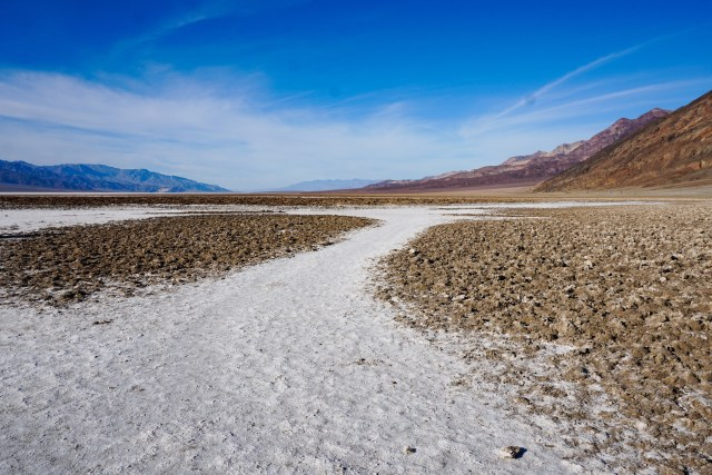 Salt Flats at Badwater Basin in Death Valley National Park, California