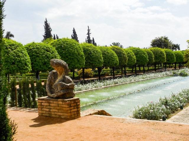 The gardens of the Alcazar in Cordoba Spain
