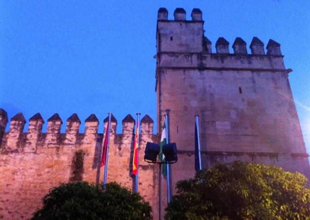 The Alcazar of Cordoba at night