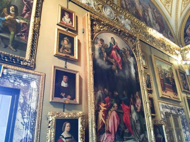 Lots and lots of art at the Palatine Museum in Florence, Italy