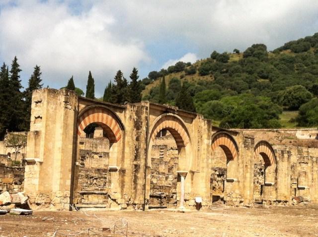 Arches at Medina Azahara in Cordoba Spain