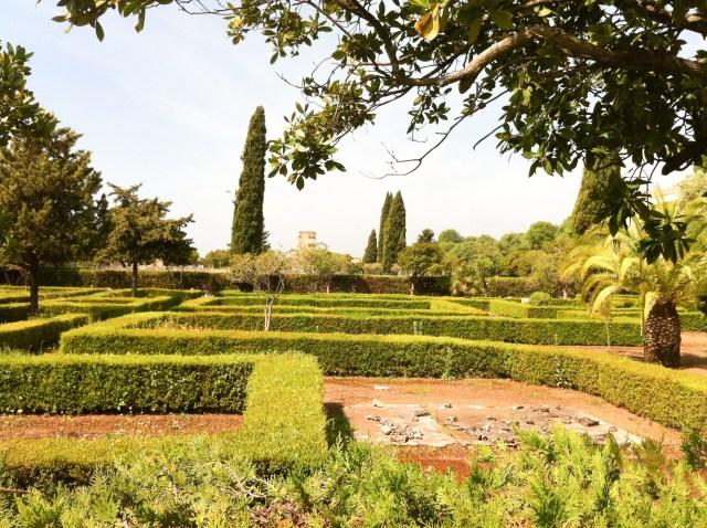 Gardens at Medina Azahara Cordoba Spain