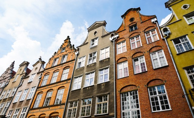 Pretty facades Old Town Gdansk Poland