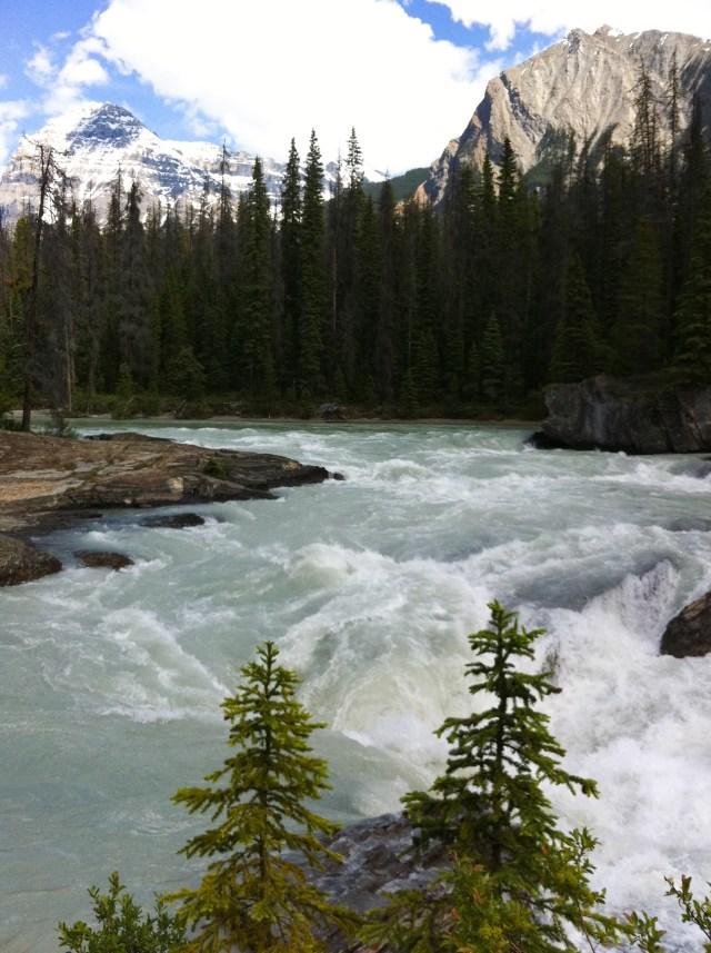 Natural Bridge over the Kicking Horse river in Yoho NP, BC, Canada