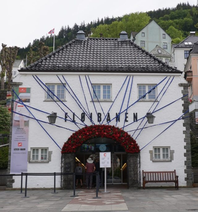 The Floibanen Funicular station in Bergen, Norway
