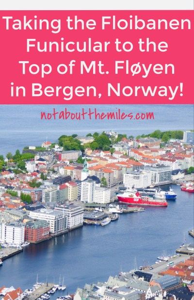 Taking the Floibanen Funicular to the top of Mt. Floyen should be at the top of your list of things to do in Bergen, Norway. The panoramic views from the top will leave you spellbound. It's a must-do when you visit Bergen!