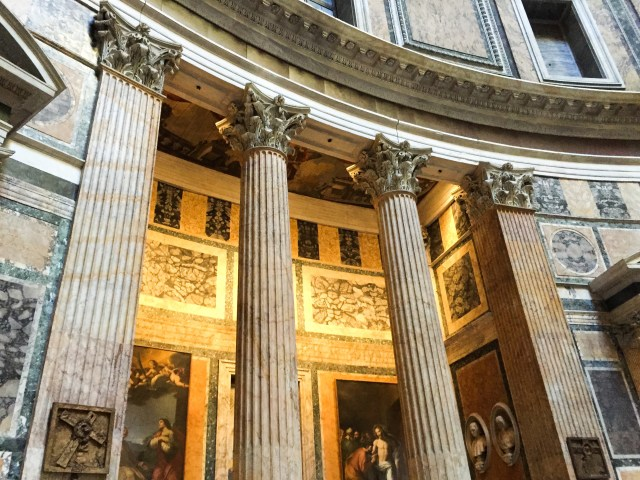 Interior of the Pantheon in Rome Italy