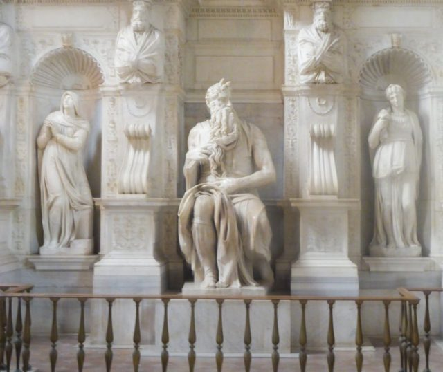 Admire the bearded horned Moses by Michelangelo; it's one of the best things to do in Rome!