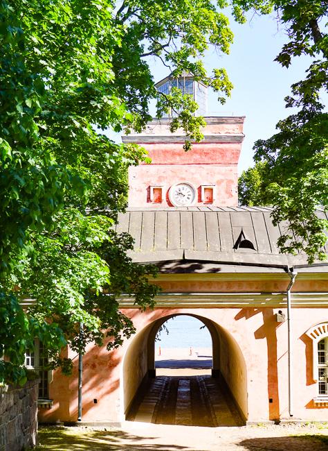 Gate at Suomenlinna, Helsinki, Finland