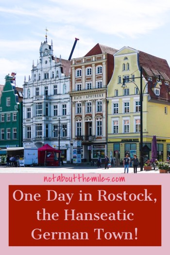 Read my post to discover how to spend one lovely day exploring the Hanseatic German town of Rostock and its seaside satellite Warnamunde. You will love the beautiful gabled houses and old churches and city gates in Rostock!