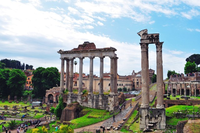 The Temple of Saturn Roman Forum Rome Italy