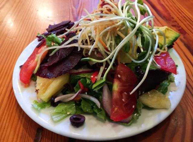 Colorful vegetable salad The Flatbread Company Paia Maui Hawaii