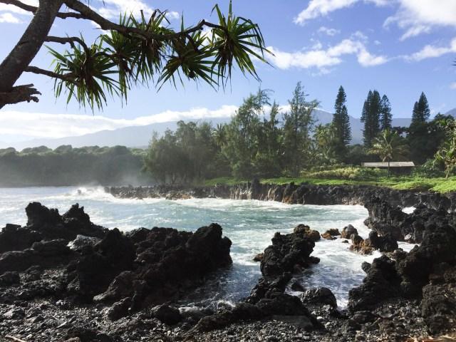 Pretty views at Keanae Peninsula Maui Hawaii