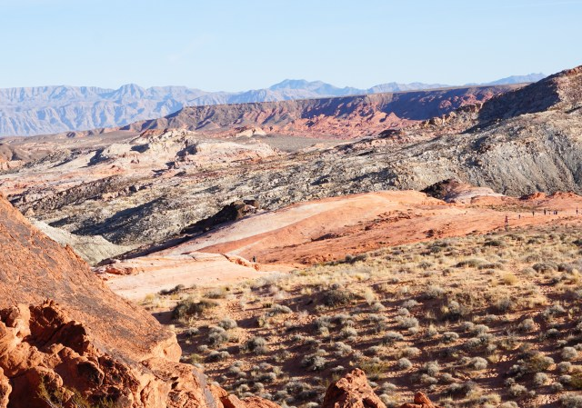 View from the Fire Wave Trail at Valley of Fire in Nevada