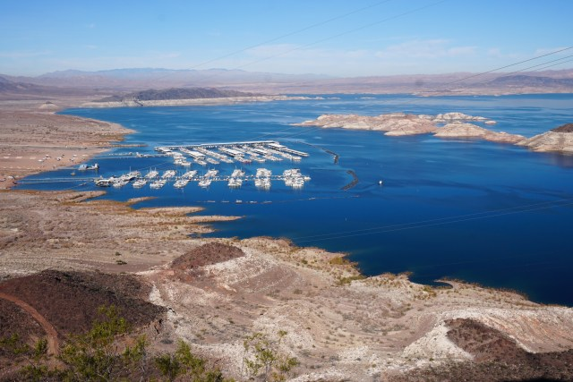 View of the Marina at Lake Mead Nevada
