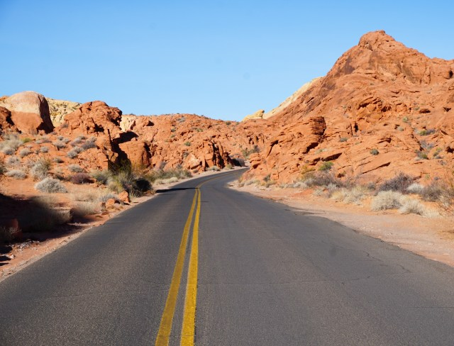 Valley of Fire Road through the Valley of Fire Park in Nevada