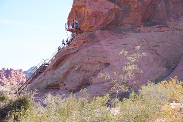 Atlatl Rock in Valley of Fire State Park in Nevada