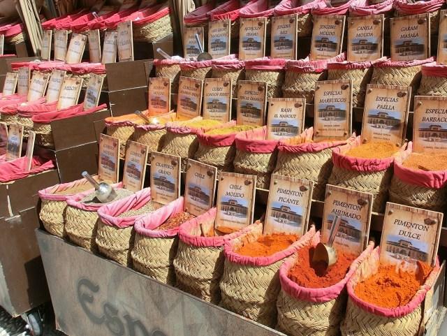 Spice shop in Granada Spain