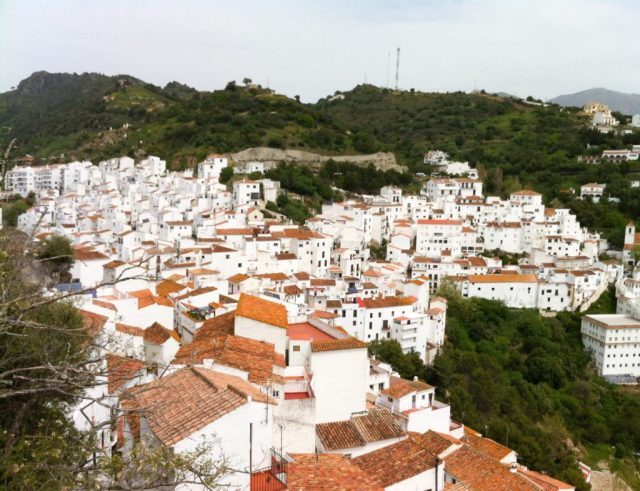 The white village of Casares in Andalusia, Spain
