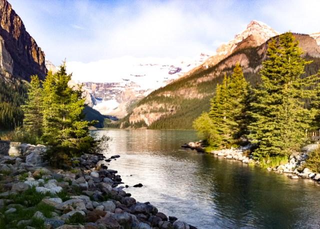 The Bow River at Lake Louise Alberta Canada