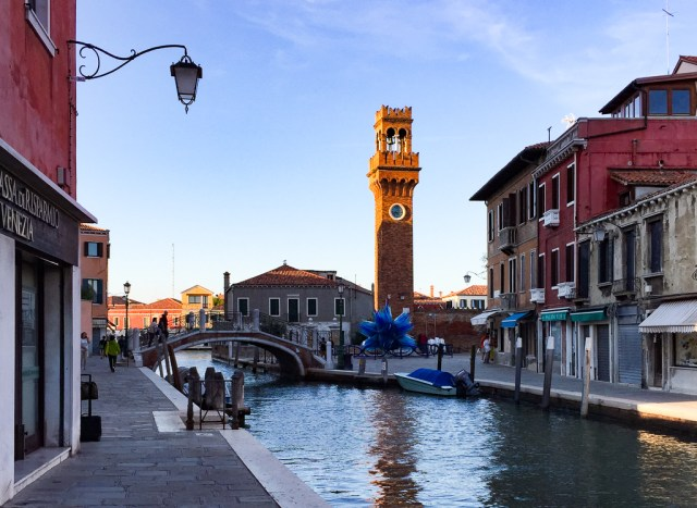 Walking towards the Campo San Stefano in Murano Italy