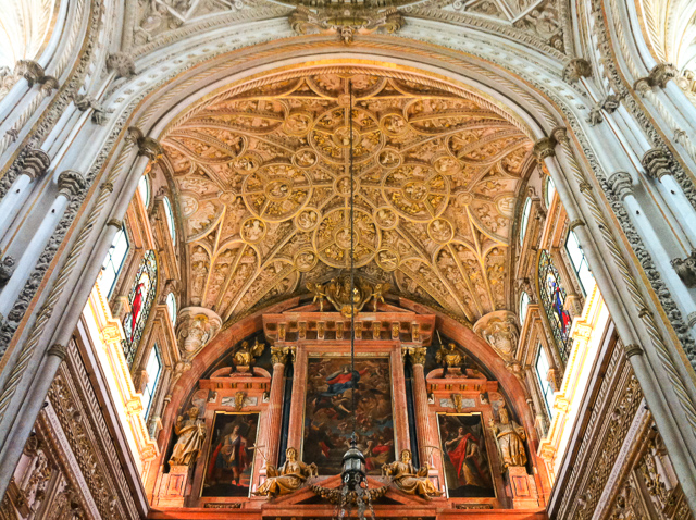 Part of the cathedral in the Mezquita in Cordoba, Spain