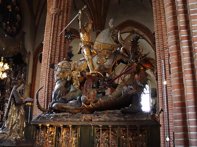 Saint George and the Dragon Stockholm Cathedral Stockholm Sweden