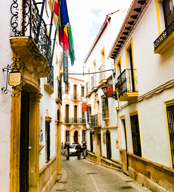 Street in Old Town of Ronda, Andalusia, Spain