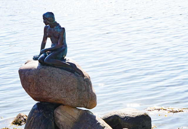The statue of the Little Mermaid is one of Copenhagen's top attractions