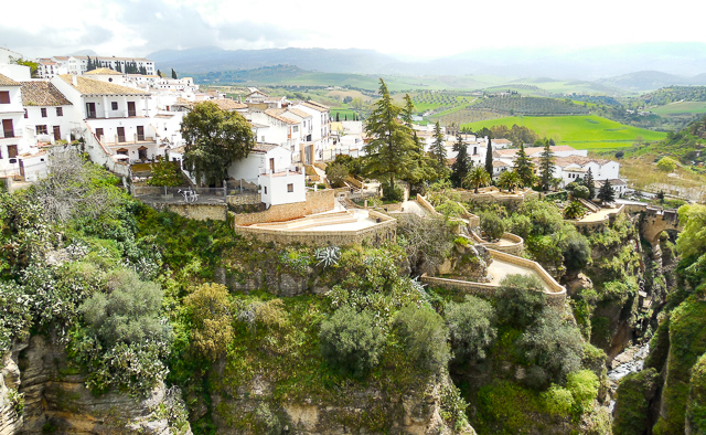 View of the Cuenca Gardens, Ronda, Spain