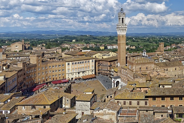 View of Siena Italy from the Facciatone