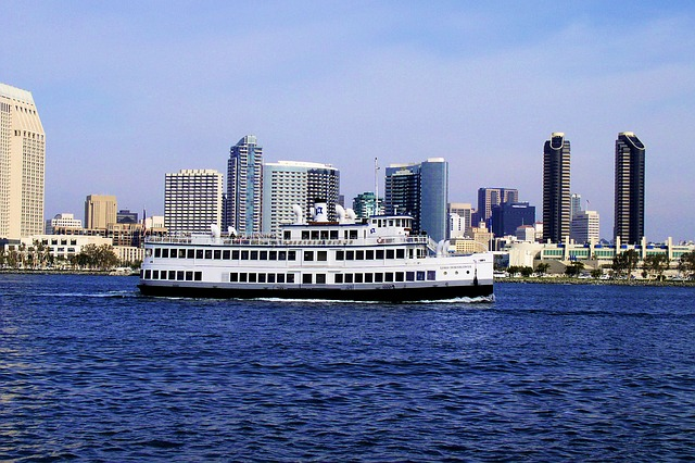 Cruiseboat in San Diego Bay, San Diego, California