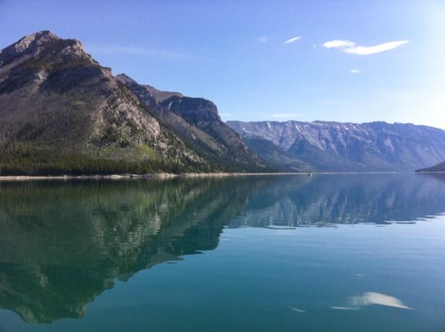 Lake Minnewanka in Banff National Park Canada