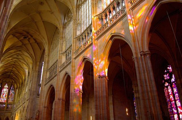 Interior of Il Duomo in Naples, Italy